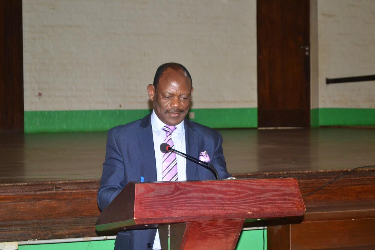 Prof. Barnabas Nawangwe giving is remarks