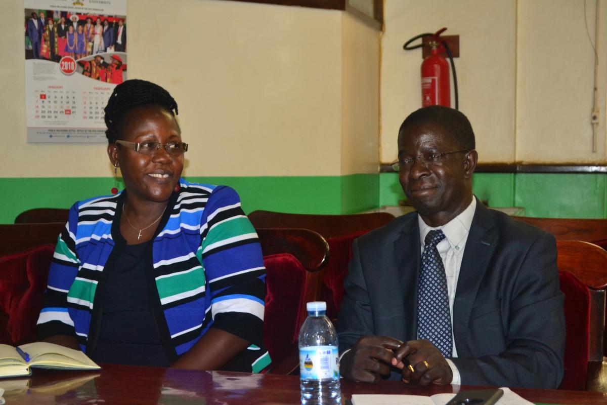 (L-R) Dr. Ahikire Josephine, Deputy Principal and Prof. Edward K. Kirumira at the event