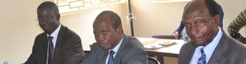 Former DP President, Dr Paul Kawanga Ssemogerere (C), and CHUSS Principal, Prof. Edward K. Kirumira (L), participated in the dialogue