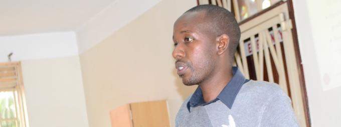 The presenter/ researcher, Mr Amon Mwiine