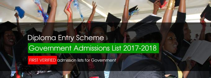 diploma admission list news chuss diploma entry scheme government admissions list 2017 2018