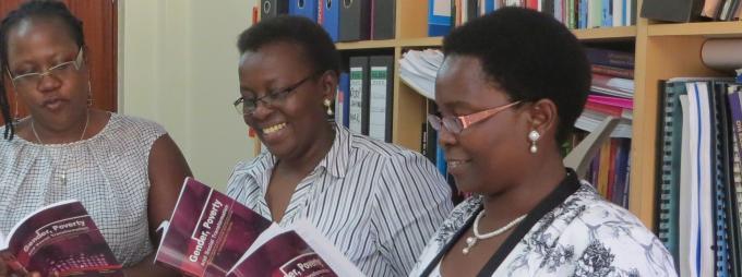 The editors, Prof. Grace Bantebya (C), Assoc. Prof. Josephine Ahikire (L) and Dr Florence Kyoheirwe Muhanguzi.