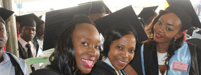Some of the CHUSS graduands at the 66th Graduation ceremony