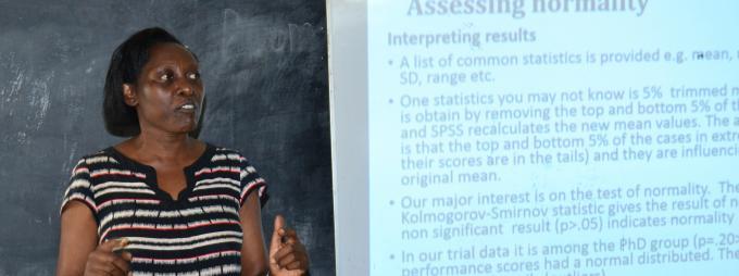 Dr Nansubuga delivering her presentation