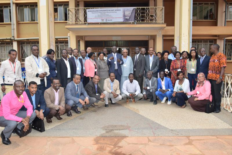 Some of the participants in a group photo