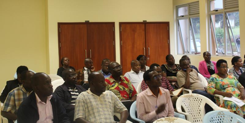 CHUSS Academic staff during the meeting