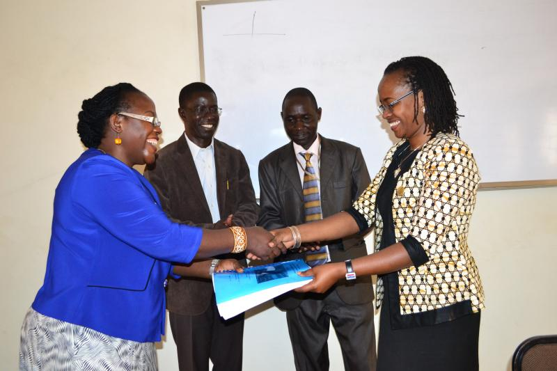 Dr Ahikire hands over to Dr Ssali
