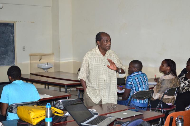 Prof. Munene, Director PhD Programmes at MUBS