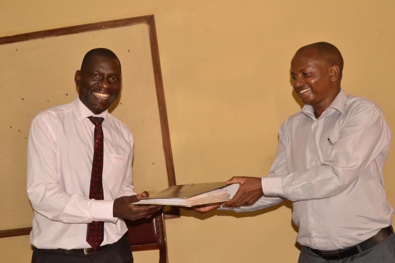 Dr Kikooma hands over to Dr Matagi