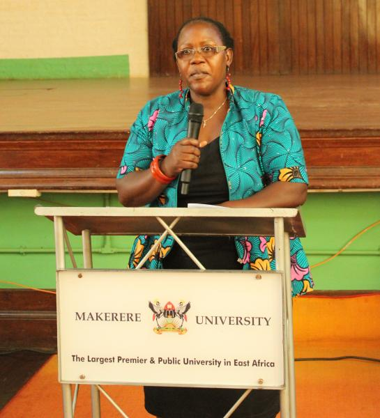 Dr Ahikire delivers her remarks