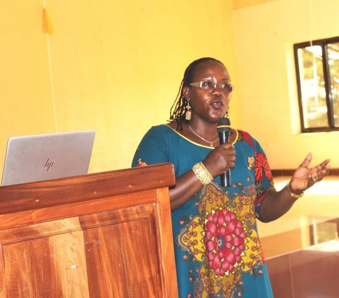 Dr Ahikire briefs participants about the project
