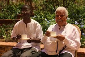 Prof Kirumira with Prof. Mazrui