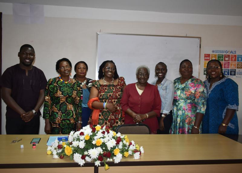 Prof. Bantebya with Hon. Rhoda Kalema, Hon. Tezira Jamwa and the panelists