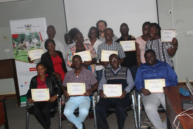 Some of the graduate students who participated in the training