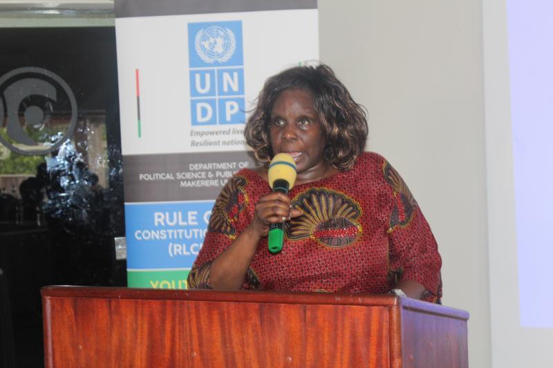 Dr Suzie Nansozi Muwanga addresses participants