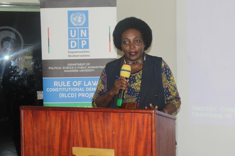 One of the facilitators, Mrs. Irene Mutumba