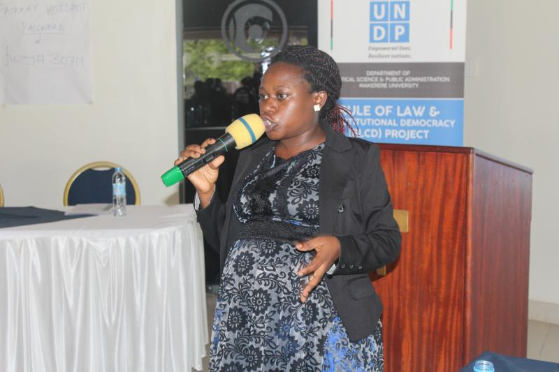 Mrs. Winfred Ahimbisibwe trained participants on problem identification and solving