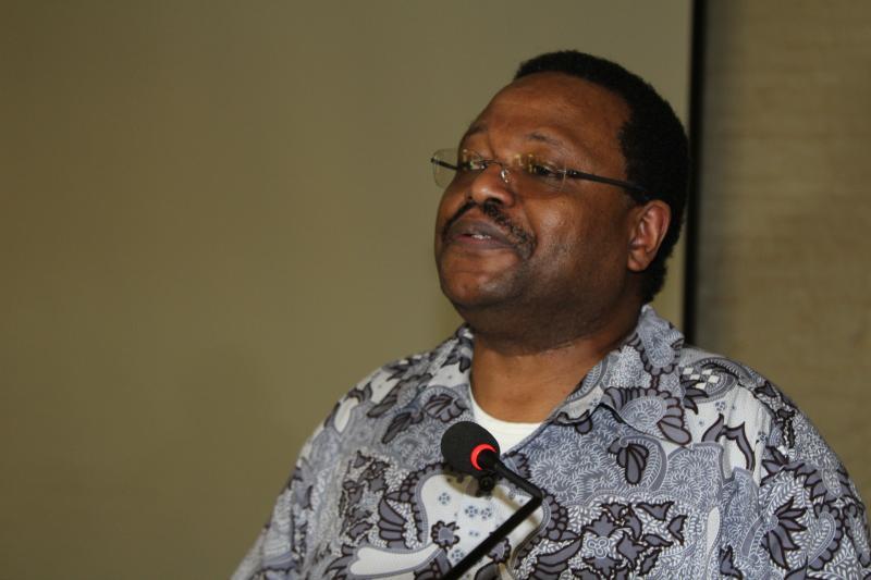 Prof. Gikandi delivering the keynote address
