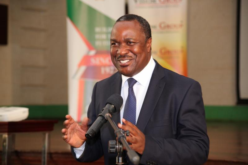 Minister Tumwesigye addresses participants at the Annual Media Convention