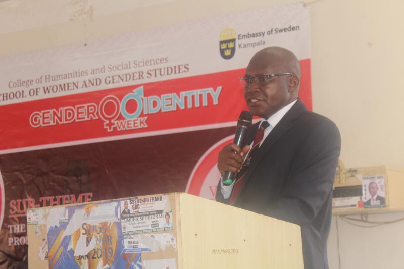 Dr David Owiny addresses participants