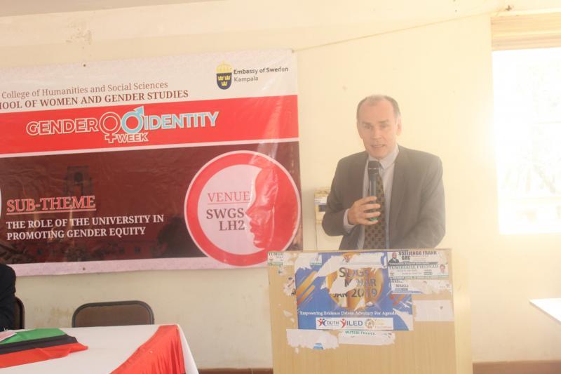 The Deputy Ambassador of Sweden delivers his remarks