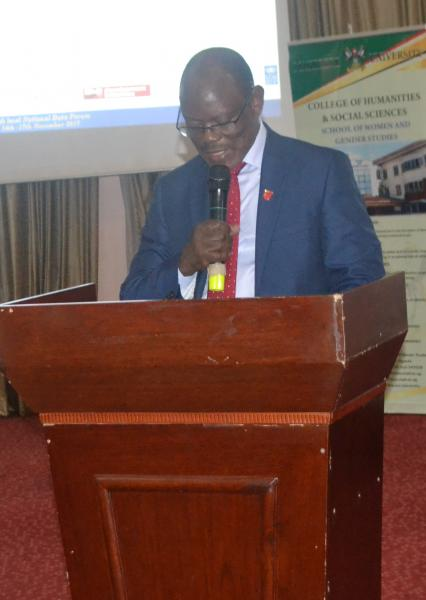 Prof. Barnabas Nawangwe delivers his remarks