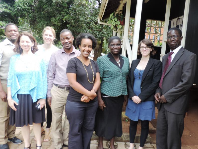 OAK Foundation, Wellspring Advisors representatives with the Principal of CHUSS, Prof. Edward K. Kirumira (R) and the ED of the AfriChild Centre, Mr Timothy Opobo