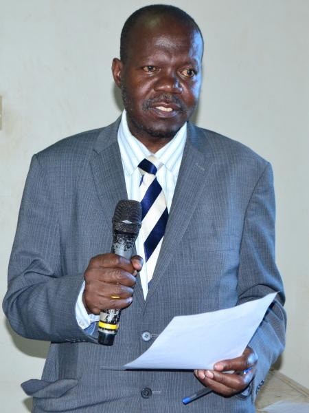 The Deputy Vice Chancellor Academic Affairs, Assoc. Prof. Ernest Okello Ogwang, delivering his remarks