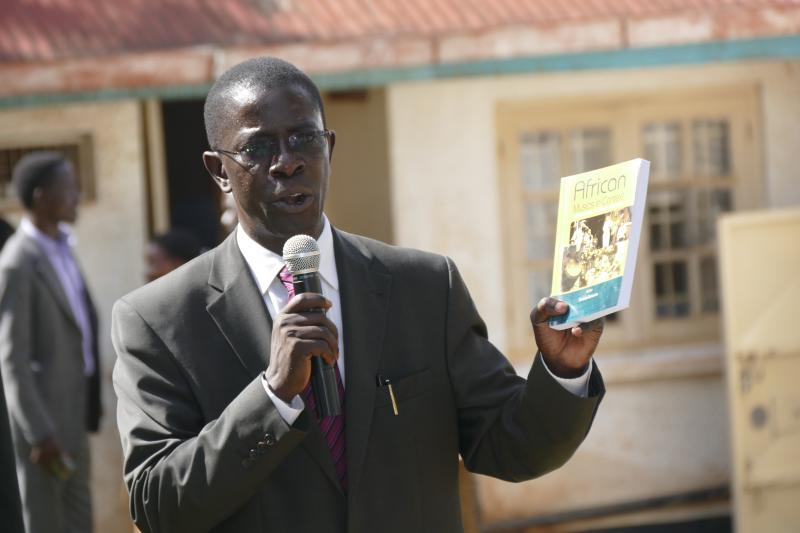 Prof. Kirumira launched one of the Department's latest publications
