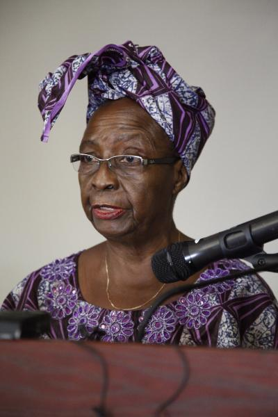 Prof. Molara Ogundipe-Lesilie was one of the discussants