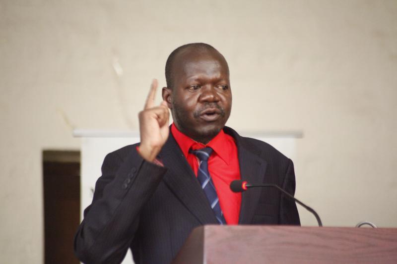 The Deputy Vice Chancellor, Academic Affairs, Prof. Ernest Okello Ogwang