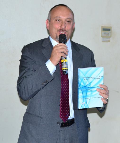 Italian Ambassador, H.E. Domenico Fornara, officially launching the book