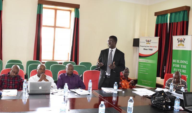 Prof. Kirumira addressing participants