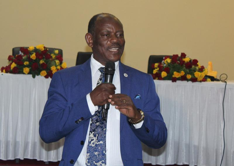 Prof. Nawangwe delivers his remarks at the fundraising dinner